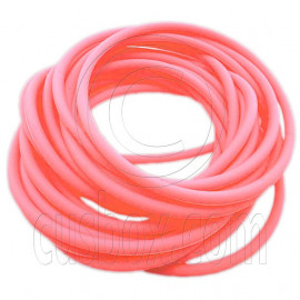 5 pcs Colorful Silicone Elastic Bracelet (Orange Pink)