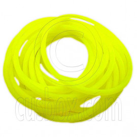5 pcs Colorful Silicone Elastic Bracelet (Yellow)