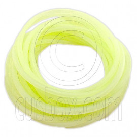 5 pcs Colorful Silicone Elastic Bracelet (Fluorescent Yellow)