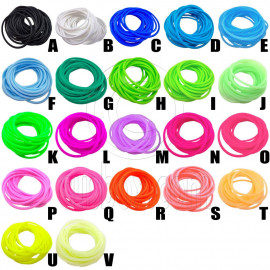5 pcs Colorful Silicone Elastic Bracelet (Pick 5 by yourself)