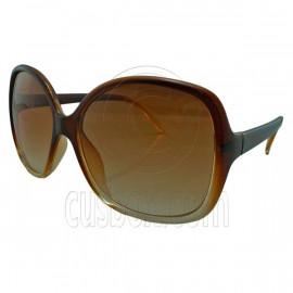 Brown Women's Girl Oversized Large Vintage Shades Polarized Designer Sunglasses
