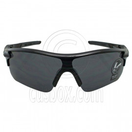 Black Professional Polarized Biking Cycling Running Sport Wrap Around Sunglasses