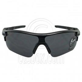 Black Professional Polarized Biking Cycling Running Sport Wrap Around Sunglasses
