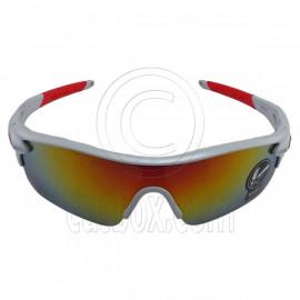 White Professional Polarized Biking Cycling Running Sport Wrap Around Sunglasses