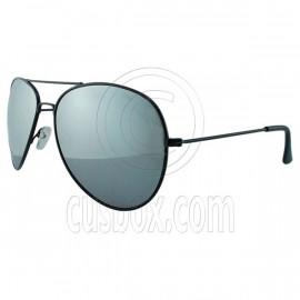 Designer Aviator Anti-Reflective Sunglasses UV400 Full Silver Mirror Black Frame