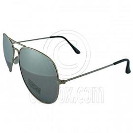 Designer Aviator Anti-Reflective Sunglasses UV400 Full Silver Mirror Silver Frame