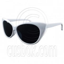 Women's Classic Cat Eye Oversized Designer Fashion Shades White Frame Sunglasses
