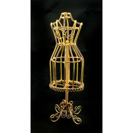 Gold Wire Dress Hanger Holder Doll Dollhouse Miniature