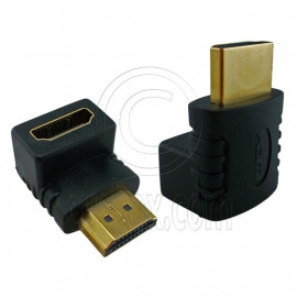 HDMI 90 Degree Right Angle 1.4 Adapter Male to Female for 1080p 3D TV LCD HDTV