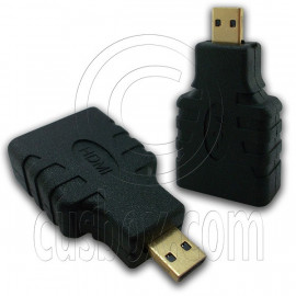 Micro HDMI 1.4 Type D Adapter Male to Female Type A for 1080p 3D TV LCD HDTV