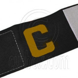 Football Games Gear Adjustable Captain Armband (BLACK) Golden C