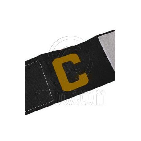 Football Games Gear Adjustable Captain Armband (BLACK) Golden C