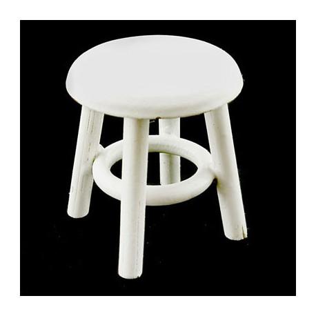 Wood White Round Mini Chair Stool Dollhouse Miniature  sc 1 st  Cusbox & White Round Mini Chair Stool Dollhouse Miniature islam-shia.org