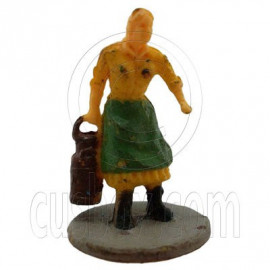 Old Farmer Farming Woman People Figure Painted RR Train Model 1:100 HO Scale