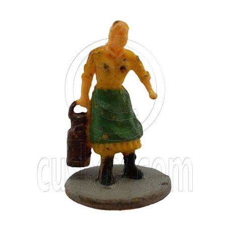 Old Farmer Farming Woman People Figure Painted RR Train Model 1:100 HO Scale