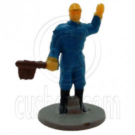 Blue Standing Worker Man People Figure Painted RR Train Model 1:100 HO Scale