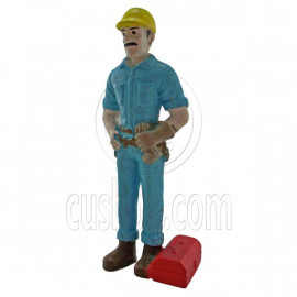 Engineer Worker with Case People Figure Painted War RR Train Model 1:30 G Scale