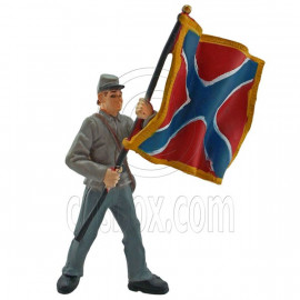 Military Flag Bearer Man Army Guard Figure Painted War Train Model 1:30 G Scale
