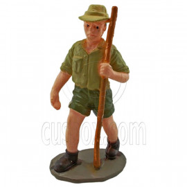 Explorer Discovery Adventurer Man Figure Painted War Train Model 1:30 G Scale
