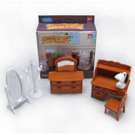 Set Desk Vanity Mirror for Sylvanian Families Furryville Calico Critters Dolls
