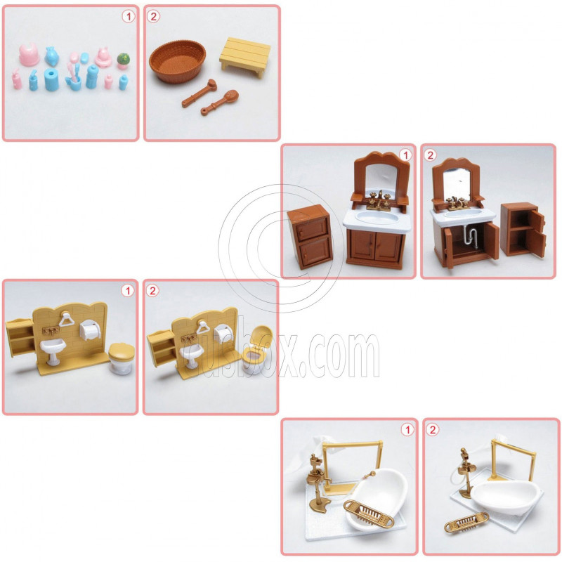 Creative Details About Sylvanian Families Calico Critters Luxury Bathroom Set