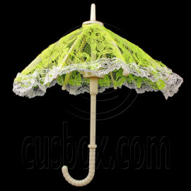 Green Umbrella 1/6 Scale for Blythe Barbie Monster High Doll's House Miniature