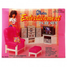 Living Room Hi-Fi TV Sofa Cabinet Furniture Set 1/6 for Barbie Monster High MIB