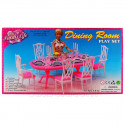 Dining Room 6 Chairs Table Furniture Play Set 1/6 for Barbie Monster High MIB