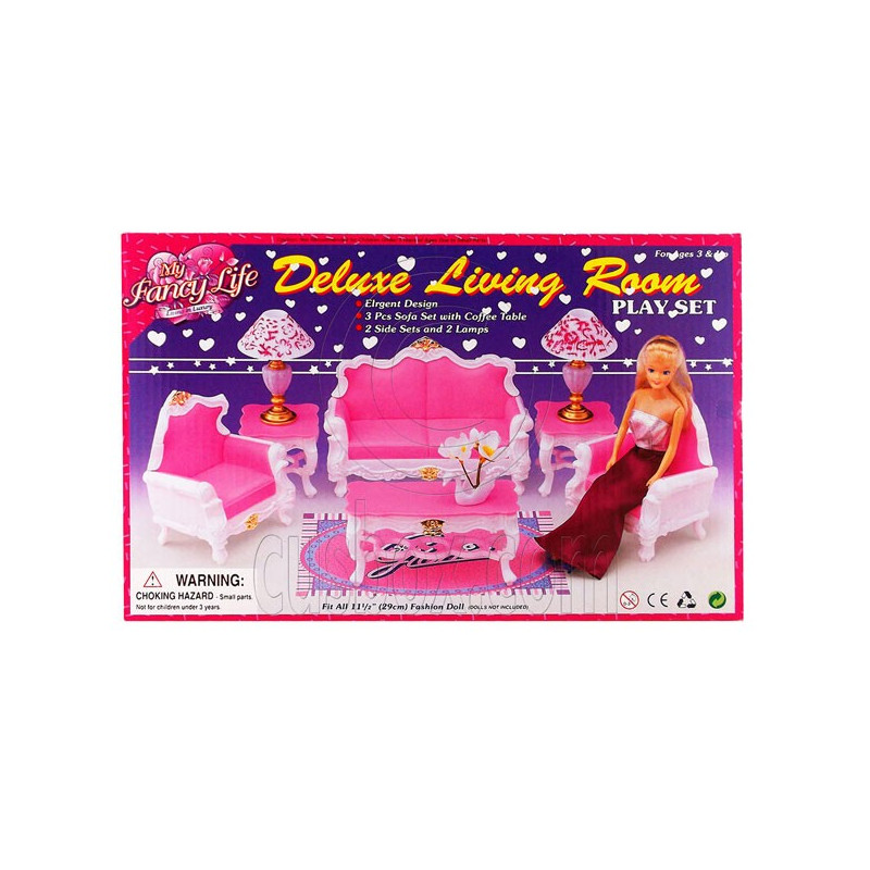 Room Sofa Table Lamp Furniture Play Set 1:6 for Barbie Monster High MIB