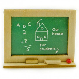 Student School Learning Blackboard Dollhouse Miniature
