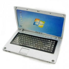Silver Metal 16:9 Notebook Netbook Dollhouse Miniature