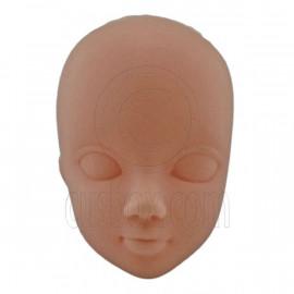 White Skin OOAK 1:6 Scale Nude Doll Head Parts Repair Practice Makeup