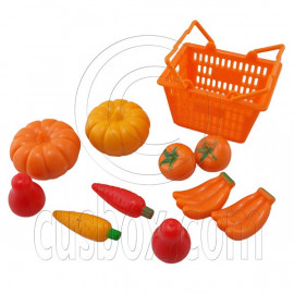 Set/Lot Supermarket Basket Fruits 1:6 Scale for Barbie Monster High Doll Dolls