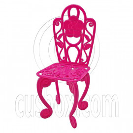 Pink Gorgeous 13cm 5 inches Mini Chair 1/6 Scale for Barbie's Kelly Doll Dolls