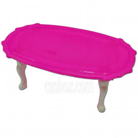 Pink Queen Ann Dining Table 1:6 for Barbie Monster High Doll's House Furniture