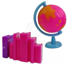 Earth Rolling Globe Books 1:6 for Barbie Monster High Doll's House Miniature