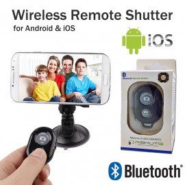 Wireless Bluetooth Camera Remote Control Selfie Self Shutter For iPhone Samsung