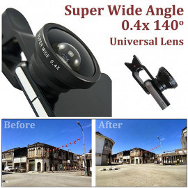 Universal Selfie 0.4x Super Wide View Angle Lens Clip Kit for Mobile Phone MIB