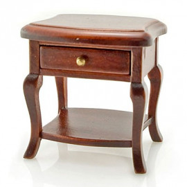 Walnut Queen Ann Bedroom Nightstand Dollhouse Miniature