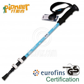 PIONEER Trekking Pole 65-135cm Fast Lock EVA Grip 7075 Aluminum Alloy Single BLUE