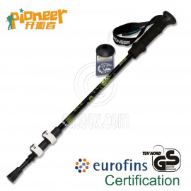 PIONEER Trekking Pole 65-135cm Fast Lock EVA Grip 7075 Aluminum Alloy Single BLACK