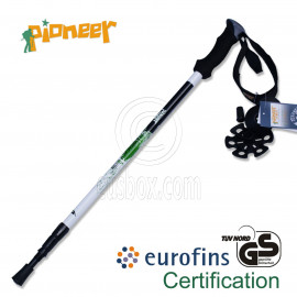 PIONEER Ultralight Carbon Trekking Pole Hiking Stick 3-Sections 65-135 cm Single GREEN