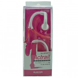 Pink 3.5mm Flex Clip Sports Earhook Headphones 4 iPod