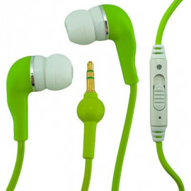 Green In-Ear 3.5mm Volume Control Earphones Apple iPod