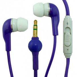 Purple In-Ear 3.5mm Volume Control Earphones Apple iPod