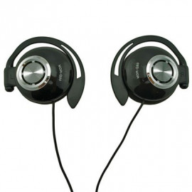 Black 3.5mm On-Ear Clip Sports Foam Headphones for iPod