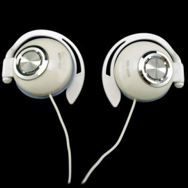 White 3.5mm On-Ear Clip Sports Foam Headphones for iPod