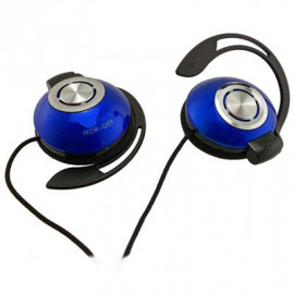 Blue 3.5mm 3.5 mm On-Ear Clip Sports Foam Earhook Headphones for Apple iPod