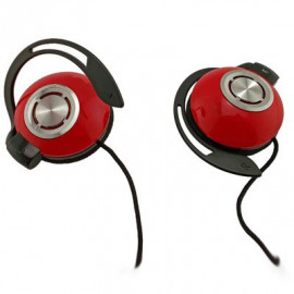 Red New 3.5mm 3.5 mm On-Ear Clip Sports Foam Earhook Headphones for Apple iPod