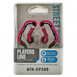 Pink 3.5mm Swing Ear Hanger Oval Rubber Ring Clip Sports Earhook Headphones MIB